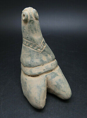 Ancient Tell Halaf Seated Terracotta Fertility Figure Rare