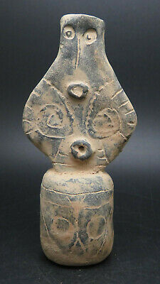 Ancient Terracotta Standing Idol Late Vinca Culture