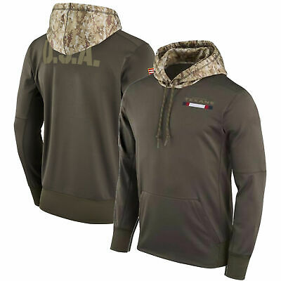 New Houston Texans Salute to Service Sideline Therma Pullover Hoodie