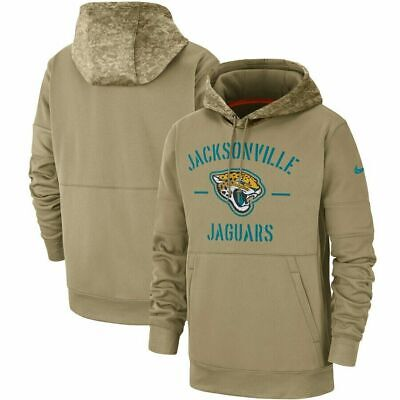 Jacksonville Jaguars Tan 2019 Salute to Service Sideline Therma Pullover