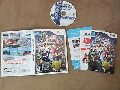 Super Smash Bros Brawl - Nintendo Wii - Good Condition - Complete - Tested - Fre