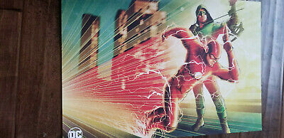 2019 Sdcc Comic Con Exclusive Abrams Dc Wb der Flash & Grün Pfeil Promo Plakat