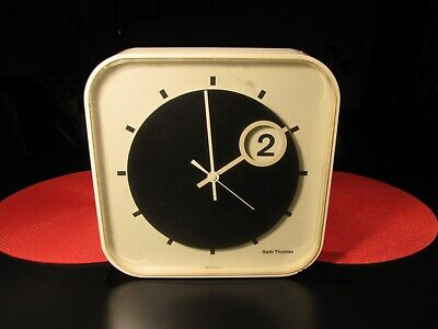 "Vintage Modern Art Deco Seth Thomas ""Spot Time"" Wall Clock Space Age - Works !"