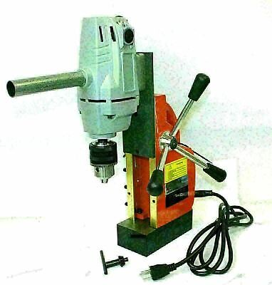 "1HP 750W Electric Magnetic Drill Press 1/2"" Boring, 1910 LBS Force TableTop"