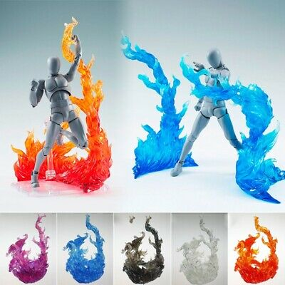 Burning Fire Effect Action Figure Stand Holder for Bandai Saint Seiya Red
