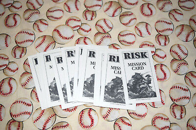 Risk Board Game 1993 Replacement 12 Mission Card Set
