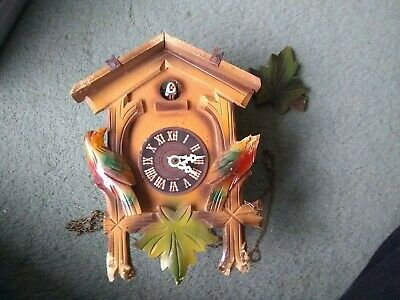 Vintage cuckoo clock wooden spares repairs 21x 16 x 10cm- West Germany