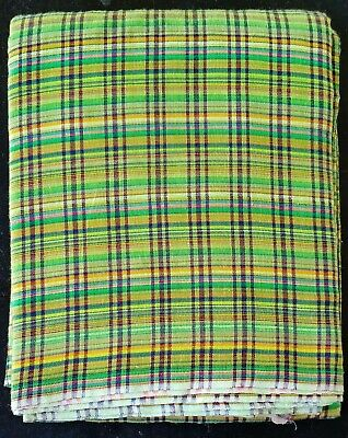 Indian Cotton Checked Lungi Sarong Dhoti Mundu Great for the Beach or Home