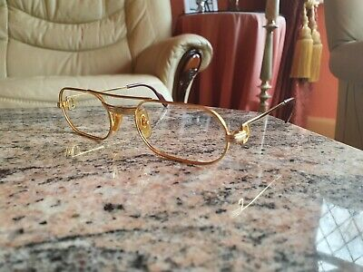 Cartier Must De Cartier Vintage Rolled Gold Glasses Frames 100% Genuine