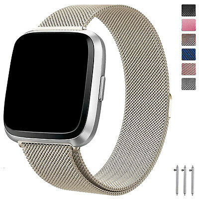 Fitbit Versa Band /2/ Lite Stainless Steel Milanese Loop bands for Fitbit Versa