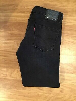 Genuine Levi's  levi strauss 511 mens red tab Stretch Black denim Jeans W32 30L