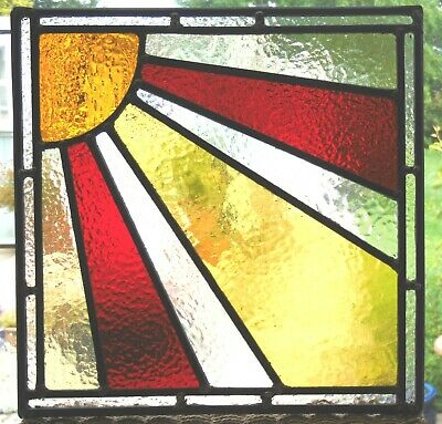 Newly Crafted Stained Glass Sunburst Panel- Ref Sg378