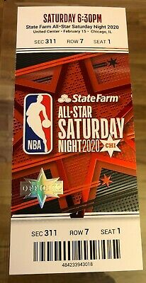 2020 NBA All-Star Game Full Ticket Stub Chicago Saturday 2/15/20 Exc+