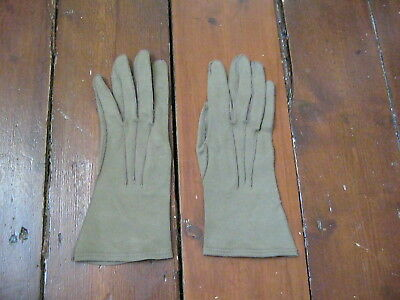 Vintage Gloves Ladies Brand New Light Brown Look Like Suede Lovely And Soft 7½
