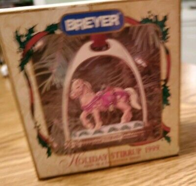 Breyer 1999 Christmas Stirrup Ornament With Box --- Very 1St In Series - Nib
