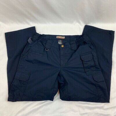 5.11 Tactical Womens Cargo Pants Blue Flap Pockets Belt Loop 14