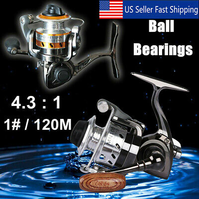 ZANLURE MIN100 1#//120M 4.3:1 Mini Ice Fishing Reel Ultra Light Spinning Fishing