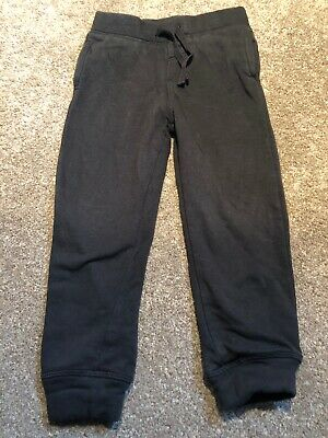 Girls 3-4 Years Black Jogging Bottoms Trousers S/Na