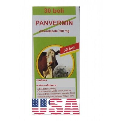 Panvermin Wormer Albendazol 300mg - Dog,Cat,Sheet, Cattle,goat,horse,pig, birds!