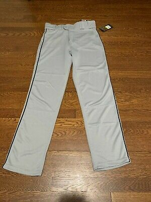 Rawlings Plated Piped Pro150 Baseball Pants Open Bottom Adult Men/'s White Grey