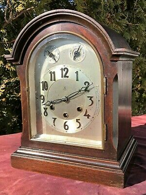 1890's Cathedral Gustav Becker Westminster Chime Mantel Clock - BEAUTY!