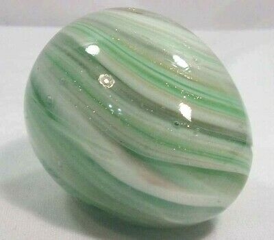 Vintage Venetian Art Glass Solid Egg Paperweight w Mica Accents Murano Italy