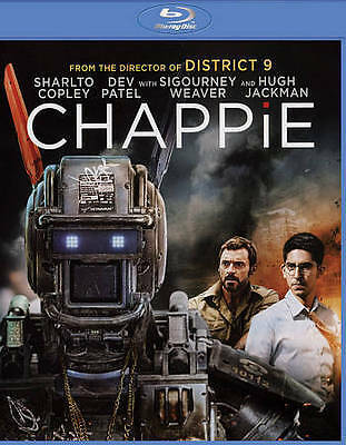 Chappie Empty Blu-Ray Case With Art Work