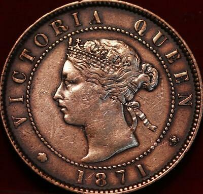 1871 Canada Prince Edward Island One Cent Foreign Coin