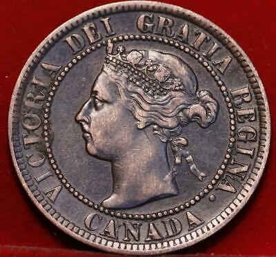 1893 Canada One Cent Foreign Coin