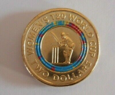 T20 world cup womens   AUSTRALIAN 2 DOLLAR  COIN, UNCIRCULATED, in STOCK ,NEW