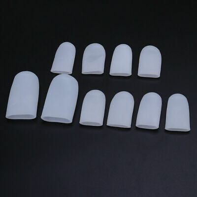 10PCS Gel Silicone Soft Toe Cap Protector Cover Corn Blisters Pain Relief Tool