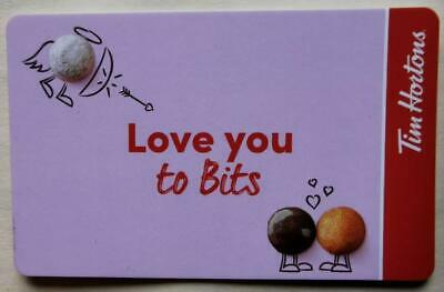 2020 TIM HORTONS GIFT CARD  ~LOVE YOU TO BITS ~FREE ship ~Unloaded ~TimBits