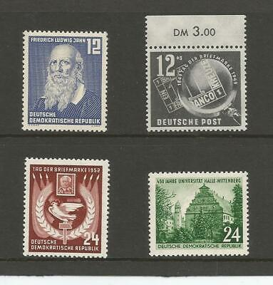 East Germany DDR  1949 Stamp Day  1952 Friedrich Ludwig Jahn Halle-Wittenberg MM