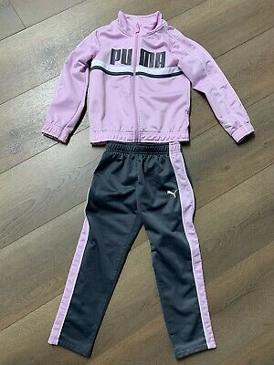 Little Girls Puma Track Suit Jacket And Pants Size 5