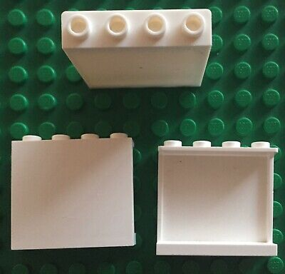 4558208 ABS 2 x Lego White WALL ELEMENT 1X4X3 Parts /& Pieces