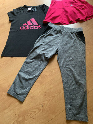 Girls Bundle Of 3 Sports Adidas Clothes Age 10-11 - Fab Condition
