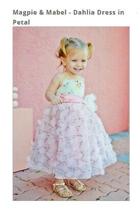 NWT Magpie /& Mabel Moxie Barefoot in the Park Bellamy Dress sz 3 3T Girls
