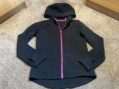 Girls 11-12 Years Jacket Coat Black Purple Zip Up Marks And Spencers S/Nct