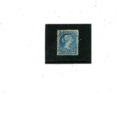 CANADA STAMP #28 USED F-VF  1868-76 issue  12 1/2 Cents    Perf 12  Light Cancel