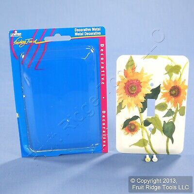 Leviton 1-Gang Sunflowers Wall Plate Switch Metal Cover Switchplate 89001-SFL