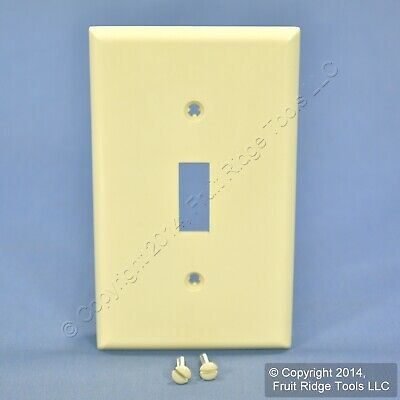 Leviton Almond Unbreakable Toggle Switch Cover Wall Plate Switchplate 80701-A