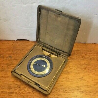 RARE Antique BIRKS Henry & Sons Ltd. Art Deco Brass Travel Clock Working