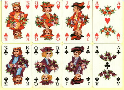 Spielkarten playing cards jeu de cartes COEUR ALTENBURG BLUMENKARTE 1980? Selten