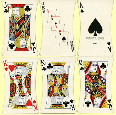 Spielkarten playing cards jeu de cartes USA 1929 Pokerbild CONCAVE SIDE Sehr Rar