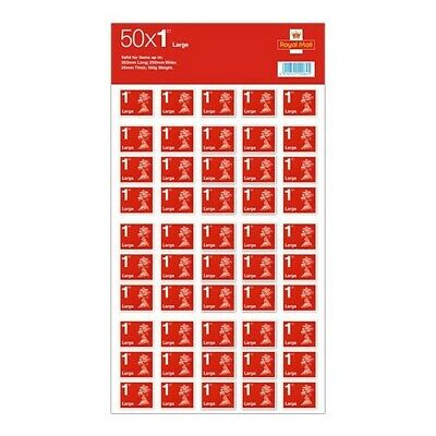 50 1st Class Large Letter Royal Mail Stamps