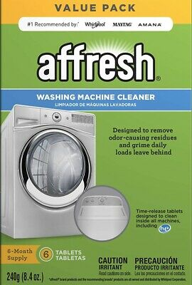 Affresh Washing Machine Cleaner, 6 Tablets | Cleans Fromt & Top Load Washers.