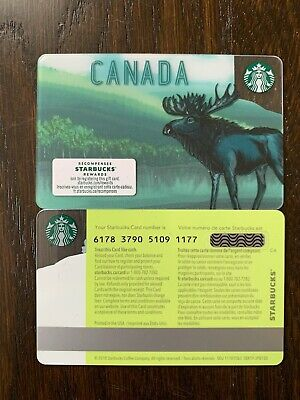 "Canada Series Starbucks ""CANADA MOOSE 2019"" - #6178 - Gift Card - New - No Value"