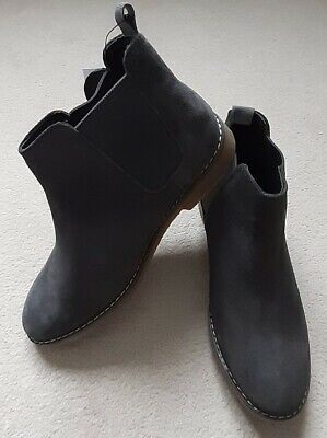 Girls M+S suede leather brown Chelsea ankle Boots Size UK 3 BNWT
