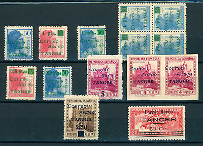 K648 Spain Tanger. 1940. Edifil#Ne10/25 Some Values. Mnh/Mh.