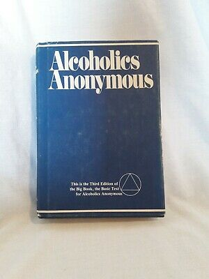 Alcoholics Anonymous 3rd Edition 1976 AA Big Blue Book Hardcover Dust Jacket